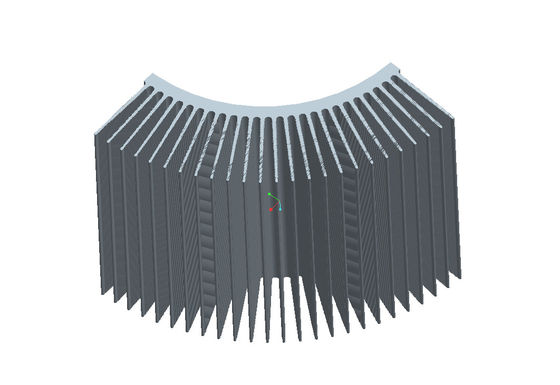China AL6063 Heatsink Extruded Aluminium Profile , Anodized Aluminum Profiles With Subtle Edges supplier