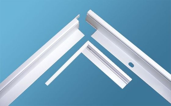 China 6005 / 6060 Aluminum Frame Extrusion Profiles Sandblast For Led Lightning supplier
