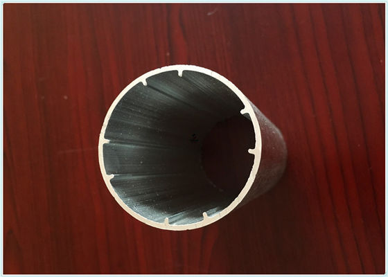 China Round Tube Aluminum Extrusion Profiles Black Electrophoresis Finish for Dia 25MM / 22MM supplier