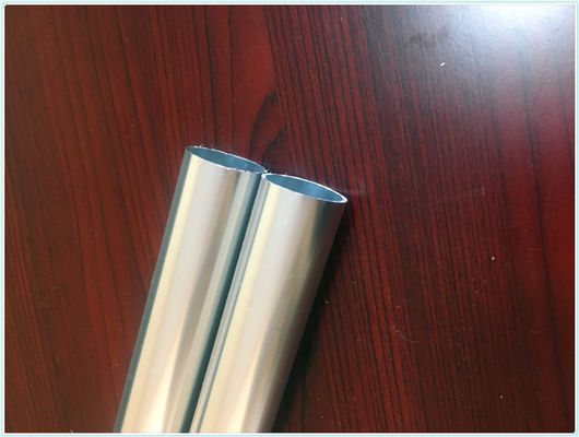 China Bright Silver 6063 Aluminium Hollow Profile Tube Coach Interior Trim Part Dia 14mm*14mm supplier