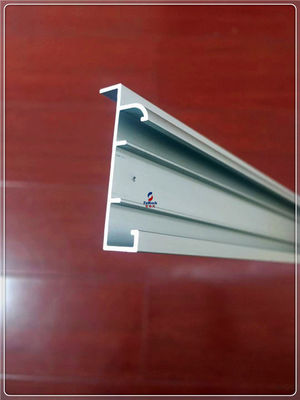 China Anodized Silvery Window Aluminum Profile Extrusion Curtain Frames For 6063 T5/T6 supplier