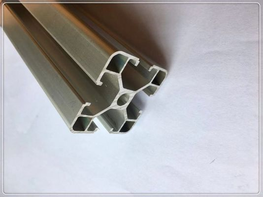China Customized Industrial Structural Aluminum Profiles With Silvery Andized Surface supplier
