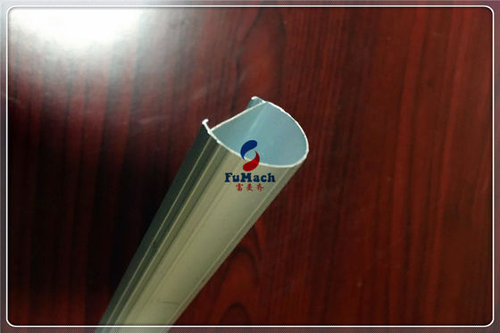 China Industry Aluminium Hollow Profile With LED Light 6063 T5 Silvery Anodizing Aluminum Extrusion Tube supplier