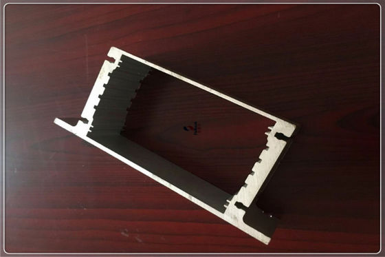 China T3 / T8 Black Anodized Aluminum Extrusions , CNC Aluminium Extruded Profiles supplier