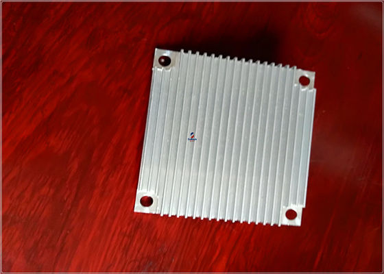 China 6063 Bright Silver Heatsink Extruded Aluminium Profile For Machiney Parts supplier