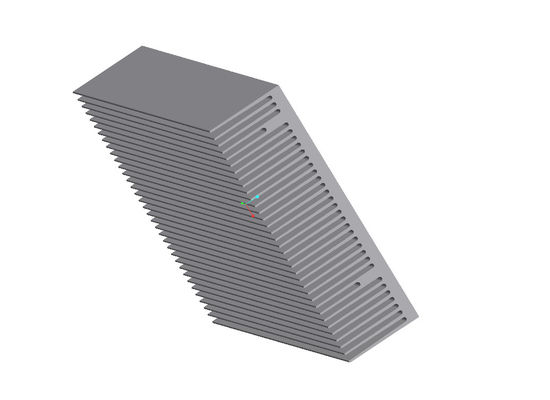 PVDF Coating Aluminium Heat Sink Profiles , Stamping Aluminum Extrusion Profiles