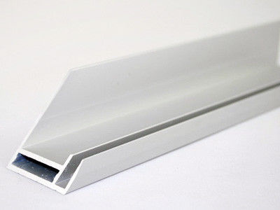 Silver White Alu System Profile , Mechanically Polishing Aluminum Frame Extrusion Profiles