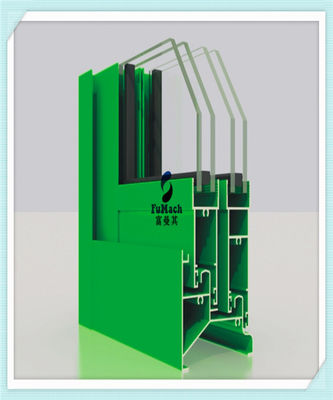 China AL6063 - T5 Window Aluminum Profile 99.7% With Powder Coating Oxidation Resistance factory