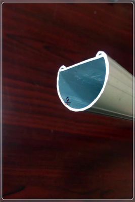 Industry Aluminium Hollow Profile With LED Light 6063 T5 Silvery Anodizing Aluminum Extrusion Tube