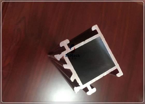 China T5 / T6 Silvery Anodized Aluminium Frame Profile For Building , Aluminium Window Profiles factory