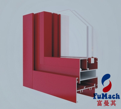 6063 Extrusion Window Aluminum Profile For Sliding Wardrobe Doors Thermally Improved