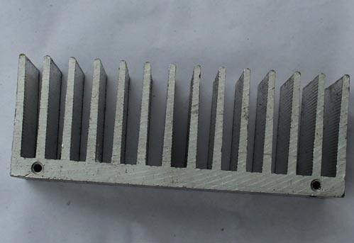 Electrophoresis Coating Heatsink Profile Aluminum , T6 Machined Aluminium Profiles