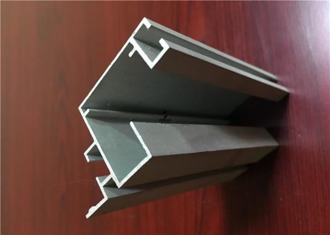 6063 Anodizeing Silvery Aluminium Channel Profiles For PVDF Industry Aluminum Part