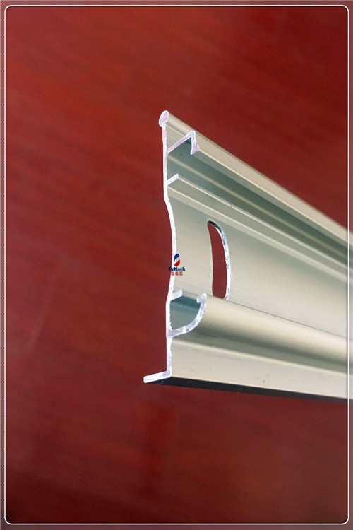 T3 / T6 Window Aluminum Profile , Extruded Aluminum Window Frame Silvery Anodize