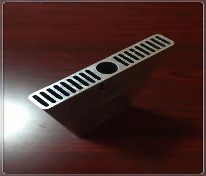 6000 Serise Customization Extruded Aluminum Tube Heat Sink Profile Thickness 2mm