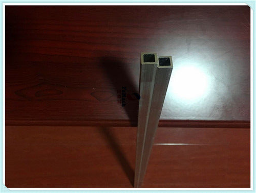6063 T5 Slivery Aluminum Extrusion Square Tube With Billboard shelf 13mm x 13mm